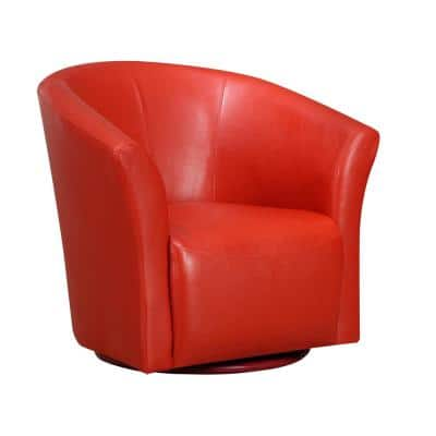 Red Swivel Accent Chairs Chairs The Home Depot