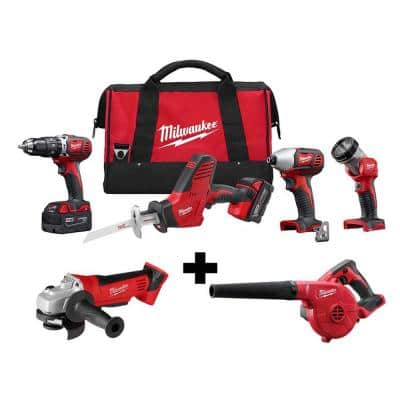M18 18-Volt Lithium-Ion Cordless Combo Tool Kit (4-Tool) with M18 4-1/2 in. Cut-Off/Grinder and Blower