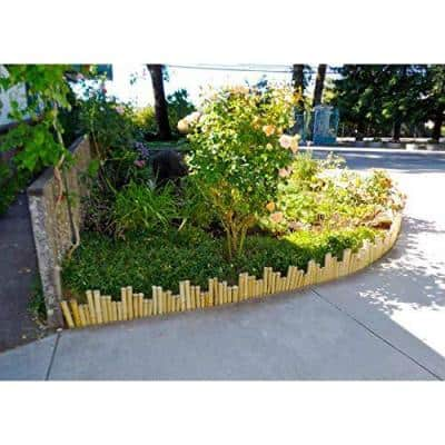 6 ft. Uneven Solid Bamboo Edging