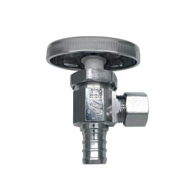 1/2 in. PEX Inlet x 3/8 in. O.D. Compression Outlet Multi-Turn Angle Valve