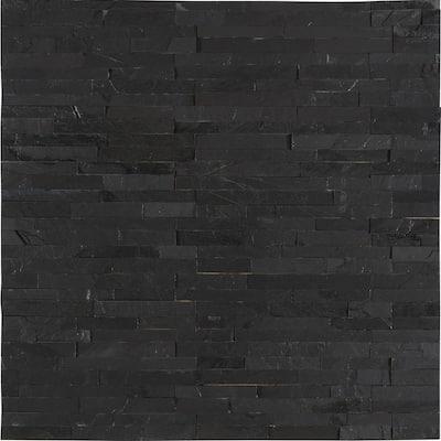 Premium Black Mini Ledger Panel 4.5 in. x 16 in. Natural Slate Wall Tile (5 sq. ft. /case)