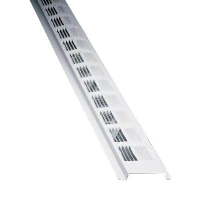 2.3 in. x 96 in. Rectangular White Weather Resistant Aluminum Soffit Vent (Sold in a carton of 50 only)