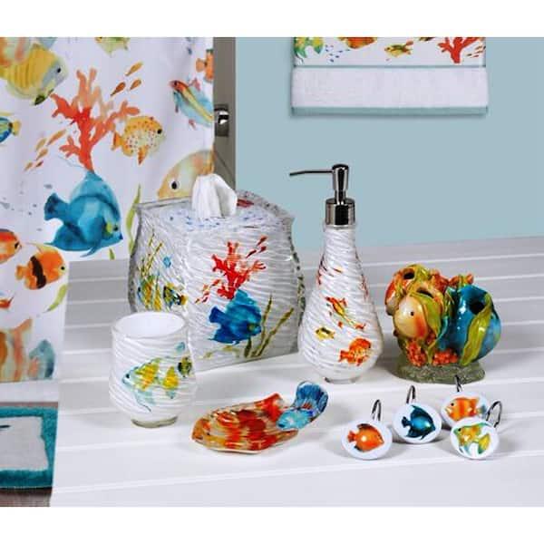 Rainbow Fish 6 Piece Bath Accessory Set, Fish Bathroom Set