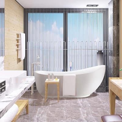 Belfort 71 in. Acrylic Flatbottom Freestanding Bathtub in White