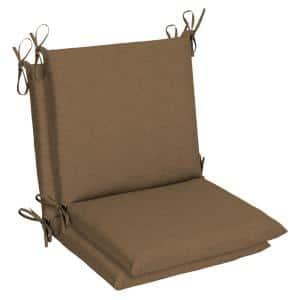 Belcourt 19 x 36 Sunbrella Cast Teak Mid Back Outdoor Dining Chair Cushion (2-Pack)