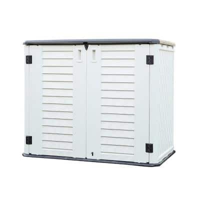 50 in. W x 29.1 in. D x 41 in. H Outdoor Horizontal Storage Shed