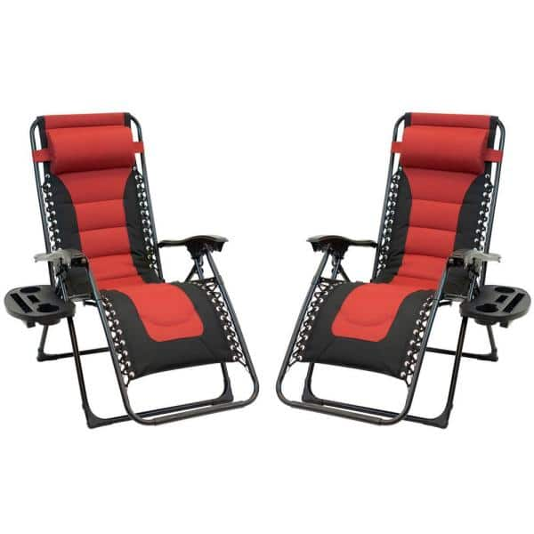 Black Frame Red And Patio Premier, Red And Black Folding Patio Chairs