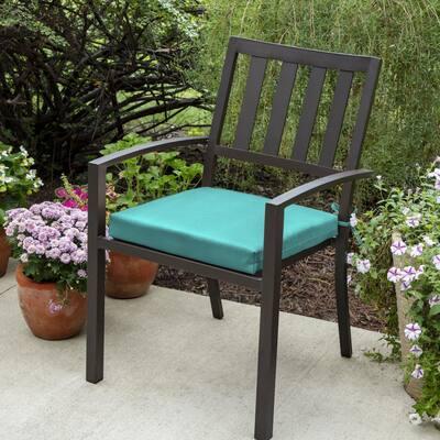 Woodbury 18 x 18 Sunbrella Canvas Aruba Outdoor Dining Chair Cushion (2-Pack)