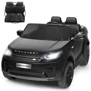 12-Volt Licensed Land Rover Kid Ride On Car 2-Seater Electric Vehicle RC withMP3 Black
