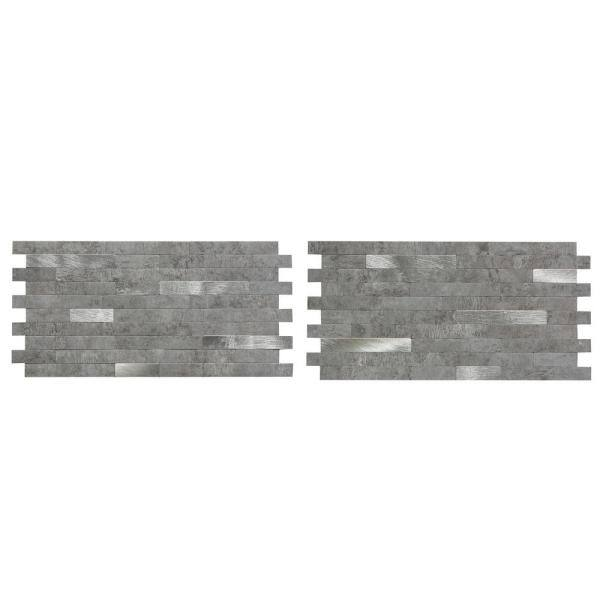 Aspect 11 75 In X 12 In Metal And Composite Peel And Stick Backsplash In Cloud Shimmer Ac004 The Home Depot