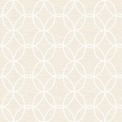 Network Beige Links Paper Strippable Roll (Covers 56.4 sq. ft.)