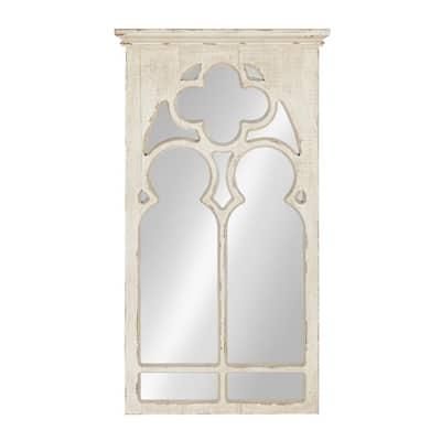 Medium Arch White Casual Mirror (31.5 in. H x 16.25 in. W)