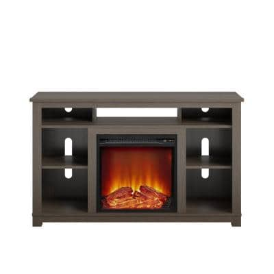 Domingo 47.6 in. Electric Fireplace TV Stand for TVs up to 55 in. in Weathered Oak