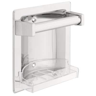 Futura Recessed Soap Dish with Bar in Chrome