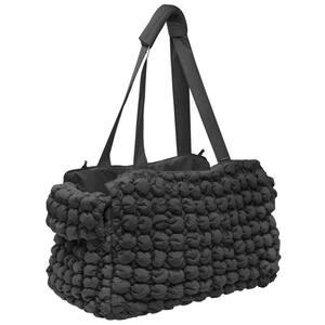 Bubble Vogue Ultra-Plush Fashion Designer Pet Carrier in Black