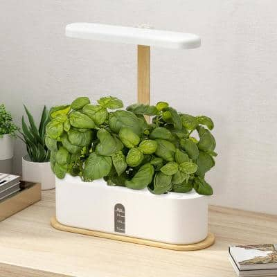 Hydroponics Growing System Indoor LED Lighting Herb Garden Germination Kits Planter Starter Automatic Timer (10-Pods)
