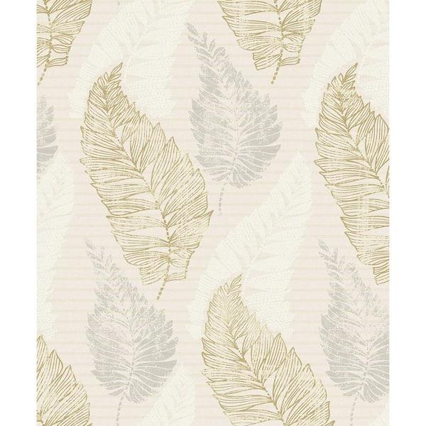 Advantage Rosemary Cream Leaf Beige Wallpaper Sample 2811 Jy11401sam The Home Depot
