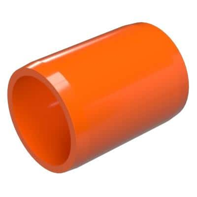 3/4 in. Furniture Grade PVC External Coupling in Orange (10-Pack)