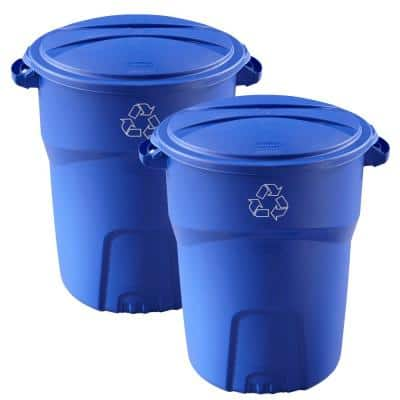 Roughneck 32 Gal. Outdoor Recycling Bin (2-Pack)
