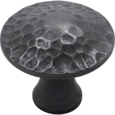 Craftsman 1-1/4 in. Black Iron Cabinet Knob