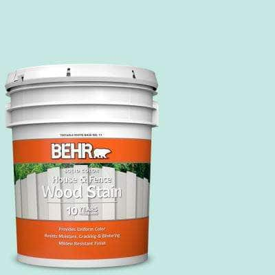 5 gal. #P440-2 Clear Aqua Solid Color House and Fence Exterior Wood Stain