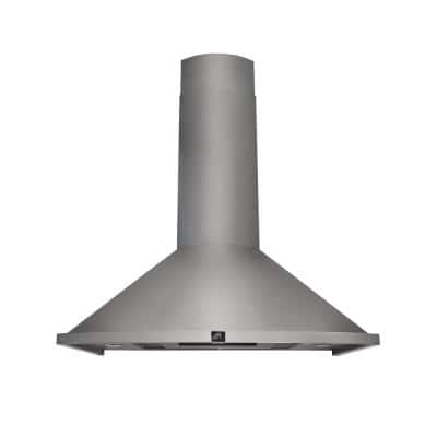Campobasso 30 in. Convertible Wall Mount Range Hood in Stainless