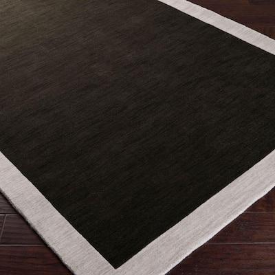 angelo:HOME Coal Black 3 ft. x 5 ft. Area Rug