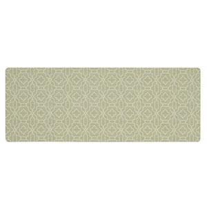 Micro Elegance Chavet Lattice 18 in. x 48 in. Kitchen Mat