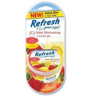 2.5 oz. Fresh Strawberry and Cool Lemonade Odor Eliminating Scented Gel Can Air Freshener