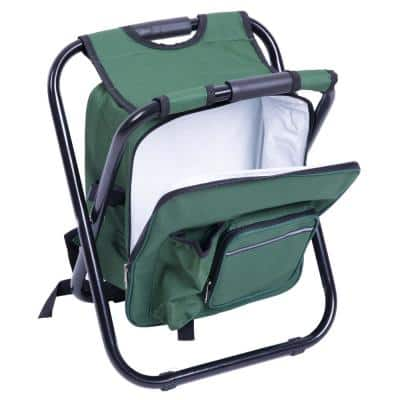 Folding 3-in-1 Stool/Backpack/Cooler Bag in Green