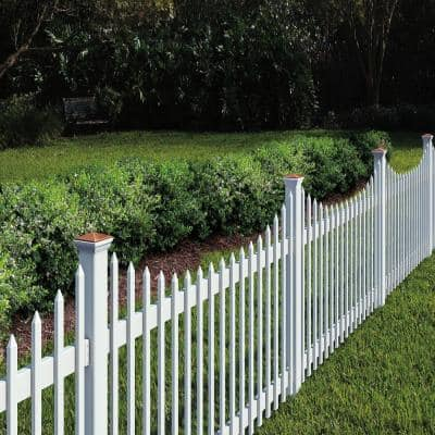 4 in. x 4 in. x 6 ft. White Vinyl Fence Post