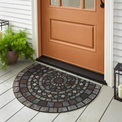 Mosaic Mythos Stone Slice 23 in. x 35 in. Doorscapes Estate Mat