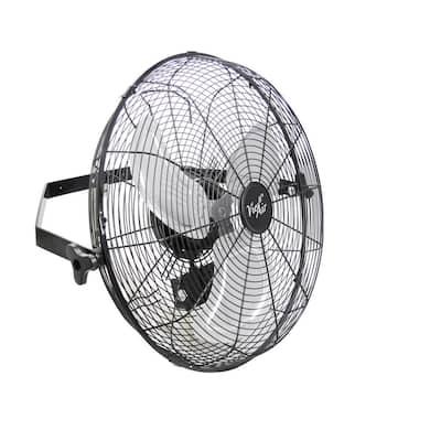 Dual Function Indoor Black 18 in. Wall Tilting Fan