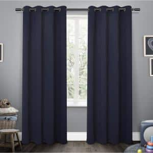 Navy Thermal Grommet Blackout Curtain - 52 in. W x 63 in. L (Set of 2)