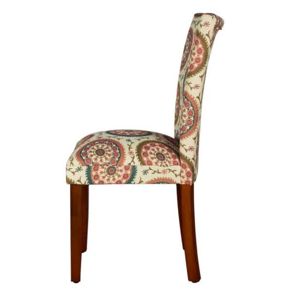 Homepop Parsons Multi Color Medallion Woven Upholstered Dining Chair Set Of 2 N6354 F1423 The Home Depot