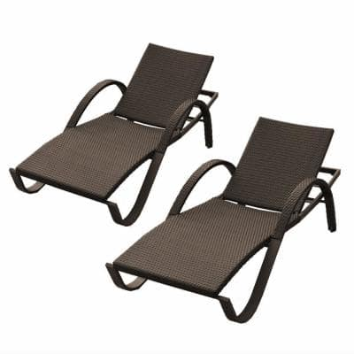 Deco Patio Chaise Lounges (Set of 2)