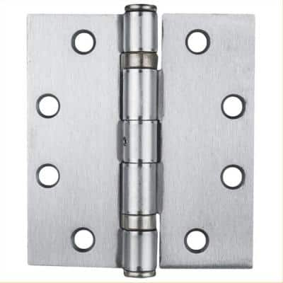 CS Series Hinges 4.5 in. x 4 in. Commercial Full Mortise Ball Bearing NRP Hinges, Stainless Steel Finish