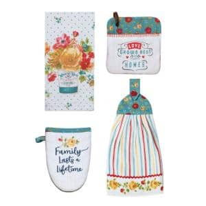 Country Cotton Fresh Kitchen Textiles (Set of 4)