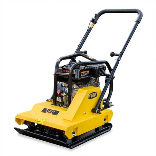 Stark 6 5 Hp Gas Plate Compactor Vibratory Asphalt Soil Plate With Folding Handle 61011 The Home Depot