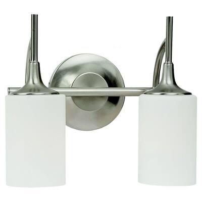 Stirling 2-Light Brushed Nickel Vanity Light