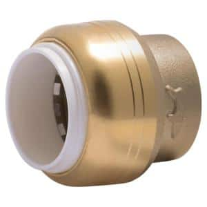 3/4 in. Push-to-Connect PVC IPS Brass End Stop Fitting