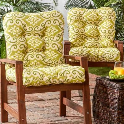 Shoreham Ikat 21 in. x 42 in. Outdoor Dining Chair Cushion (2-Pack)