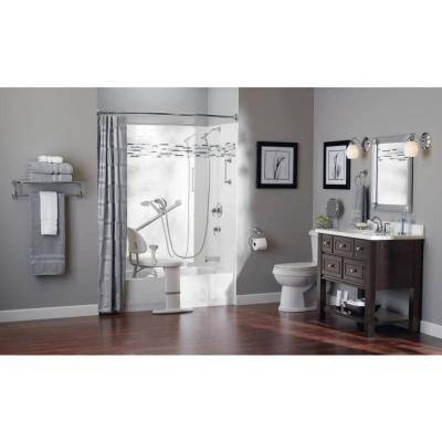 Home Care 24 in. x 1-1/4 in. Concealed Screw Grab Bar with SecureMount and Curl Grip in Chrome