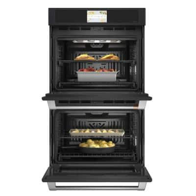 30 in. Double Electric Smart Wall Oven with Convection Self-Cleaning in Matte Black