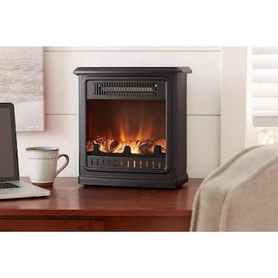 Crestland 13 in. Desktop Electric Fireplace in Black