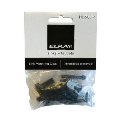Heavy-Duty Long Clips and Screws (Bag of 6)