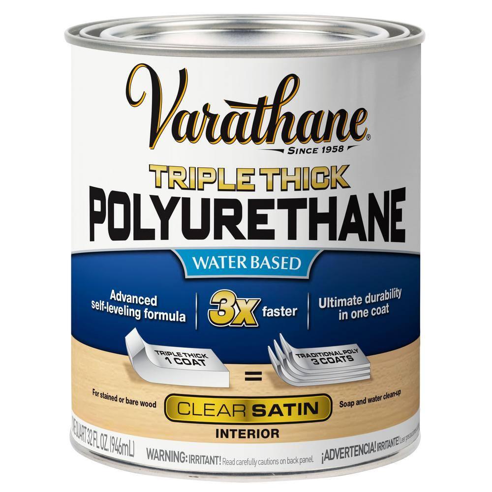 Varathane 1 qt. Satin Triple Thick Polyurethane (2-Pack)