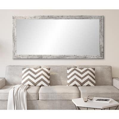 Oversized Distressed White/Gray Farmhouse Rustic Mirror (71 in. H X 32 in. W)