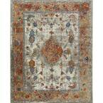 Parlin Ivory/Rust 3 ft. x 4 ft. Indoor Area Rug