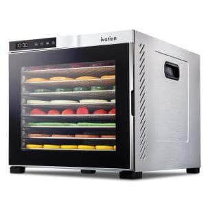 10 Tray Premium Stainless Steel Electric Food Dehydrator Machine 1000W for Drying Beef Jerky, Fruits, Vegetables & Nuts